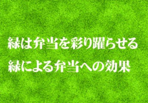 【弁当のプロ】弁当の彩りのコツ!弁当で一番気になる色は緑!
